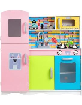 Dřevěná kuchyňská linka s příslušenstvím Eco Toys - barevná