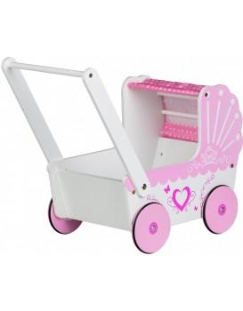 Dřevěný kočárek pro panenky Eco Toys