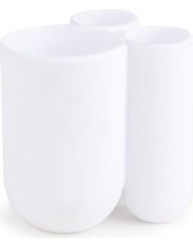 Stojan na zubní kartáčky Touch bílý
