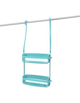 Závěsná koupelnová police Flex modrá