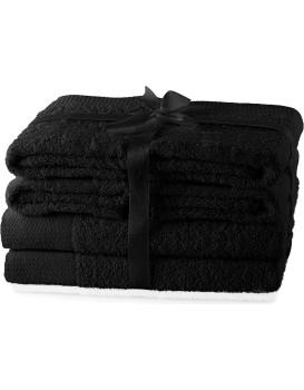 Set ručníků AmeliaHome Amary černé