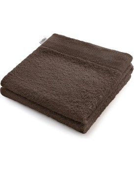 Bavlněný ručník DecoKing Berky hnědý