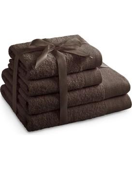 Sada bavlněných ručníků AmeliaHome AMARI hnědá