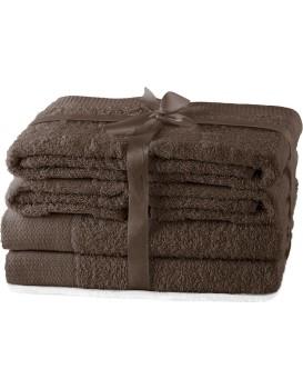 Set ručníků AmeliaHome Amary hnědé
