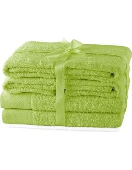 Set ručníků AmeliaHome Amary světle zelené