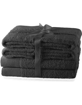 Set ručníků AmeliaHome Amary tmavě šedé
