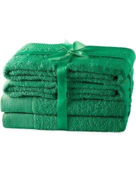 Set ručníků AmeliaHome Amary zelené