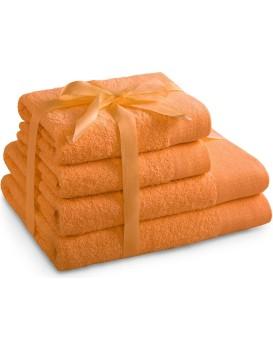 Sada bavlněných ručníků AmeliaHome AMARI oranžová