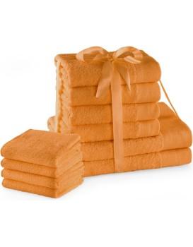 Sada bavlněných ručníků AmeliaHome AMARI 2+4+4 ks oranžová