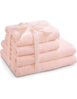 Sada bavlněných ručníků AmeliaHome AMARI růžová