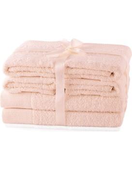 Set ručníků AmeliaHome Amary růžové