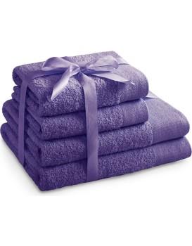 Sada bavlněných ručníků AmeliaHome AMARI fialová