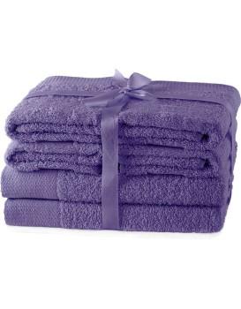 Set ručníků AmeliaHome Amary fialové