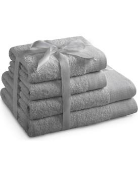 Sada bavlněných ručníků AmeliaHome AMARI šedá