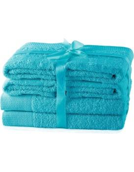 Set ručníků AmeliaHome Amary tyrkysové