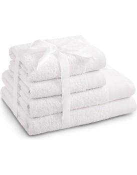 Sada bavlněných ručníků AmeliaHome AMARI bílá