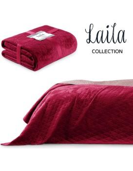 Přehoz na postel AmeliaHome Laila rubínově červený/fialovo růžový