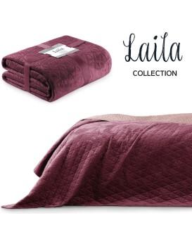 Přehoz na postel AmeliaHome Laila fialový/fialovo růžový
