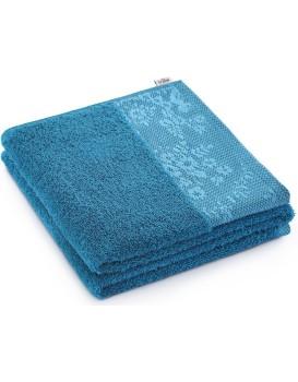 Bavlněný ručník AmeliaHome Crea 50 x 90 cm modrý/mořský