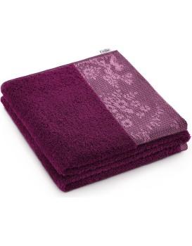 Bavlněný ručník AmeliaHome Crea I rubínově červený
