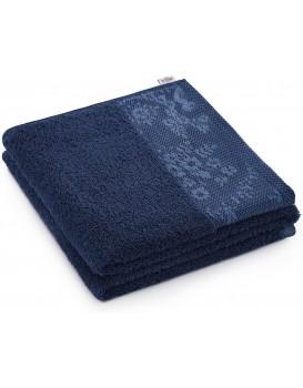 Bavlněný ručník AmeliaHome Crea III modrý