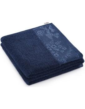 Bavlněný ručník AmeliaHome Crea tmavě modrý