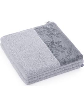 Bavlněný ručník AmeliaHome Crea I světle šedý
