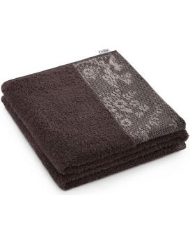 Bavlněný ručník AmeliaHome Crea hnědý
