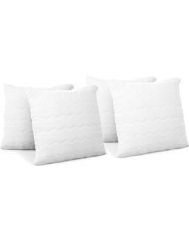 Sada 4 polštářů AmeliaHome Reve 40 x 40 cm bílá