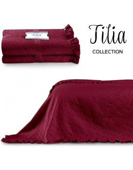 Přehoz na postel AmeliaHome Tilia rubínově červený