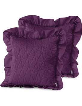 Povlaky na polštáře AmeliaHome Tilia I fialové