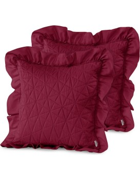 Povlaky na polštáře AmeliaHome Tilia karmínově červené