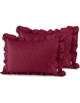 Povlaky na polštáře AmeliaHome Tilia I karmínově červené