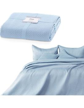 Přehoz na postel Carmen světle šedý