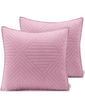 Povlaky na polštáře AmeliaHome Softa růžové/stříbrné