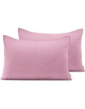Povlaky na polštáře AmeliaHome Softa I růžové/stříbrné