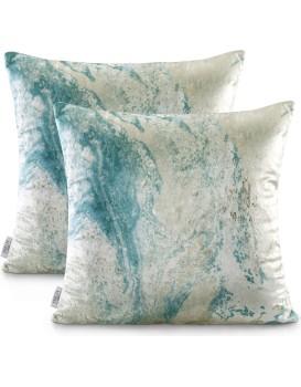 Povlaky na polštáře AmeliaHome Nancy modré/béžové