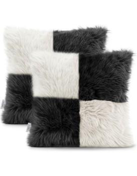 Povlaky na polštáře AmeliaHome Nancy bílé/černé