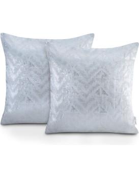 Sada dvou povlaků na polštář AmeliaHome Glamour Navia stříbrná