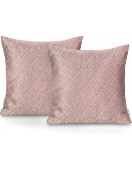 Sada dvou povlaků na polštář AmeliaHome Caspe pudrově růžová