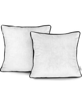Povlaky na polštáře AmeliaHome Velvet Piping bílé