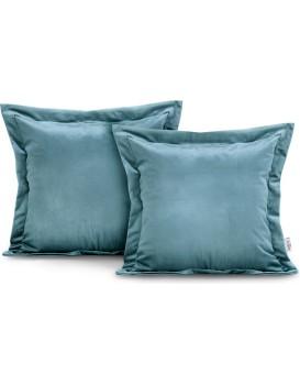 Povlaky na polštáře AmeliaHome Velvet Side světle modré