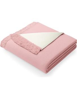 Deka AmeliaHome Franse pudrově růžová/ecru