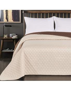 Oboustranný přehoz přes postel DecoKing Chiny béžovo-hnědý