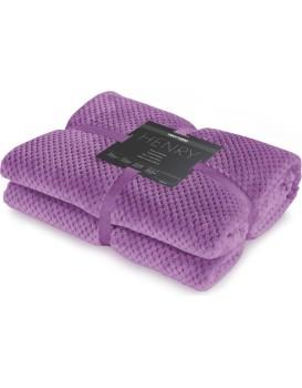 Deka z mikrovlákna DecoKing Toby fialová