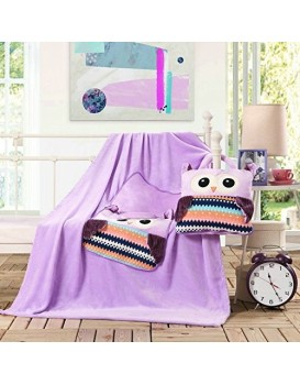 Dětská deka z mikrovlákna DecoKing Owl fialová
