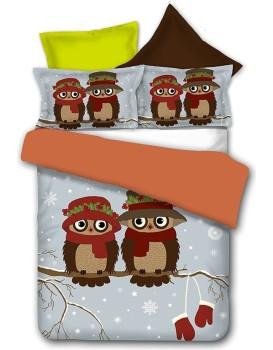 Povlečení z mikrovlákna DecoKing Owls WINTERSTORY