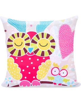 Povlak na polštář DecoKing Cute Owl 80x80 barevný
