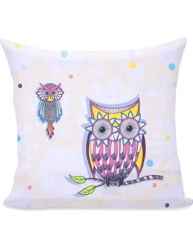 Povlak na polštář Decoking Cute Owls barený
