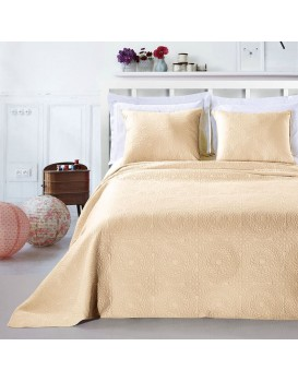 Přehoz na postel DecoKing Elodie béžový + povlaky na polštáře